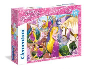 Puzzle SuperColor Maxi Disney Princess Tangled 104 Pezzi (Puzzle Bambini Clementoni) su ARSLUDICA.com