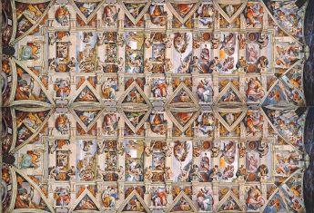 Puzzle Panorama 1000 Pezzi Clementoni Volta della Cappella Sistina