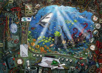 Puzzle 1000 Pezzi Ravensburger La Cantina degli Orrori| Escape Puzzle