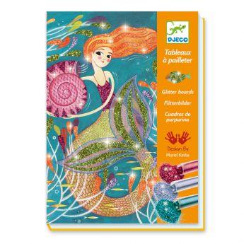 Tavole Glitter Mermaids Lights DJECO su ARSLUDICA.com