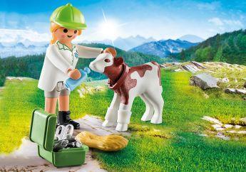 Veterinaria con Vitellino Playmobil Special Plus 70252 su ARSLUDICA.com