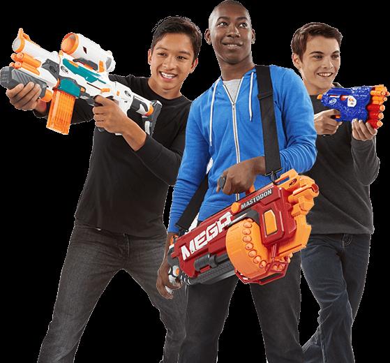 Scopri le armi giocattolo Blaster Nerf per bambini e per adulti